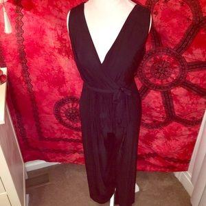 Pants - NWOT Black Tie Front Jumpsuit